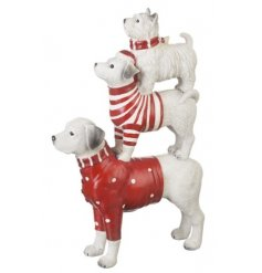 Add a classical twist to your christmas decal this year with this quirky dog statue