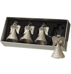 Simplistic yet alluring angels will add a magical sparkle to the room once the tree lights hit their glittered skirts.