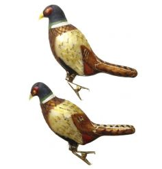 Add a touch of the Woods to your home with these glass pheasants decorative clips.