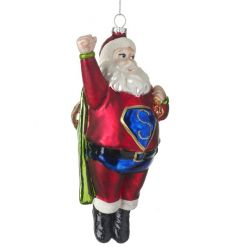 With his shiny look and glitter 'S' Super Santa will fit in perfectly with the decor this Christmas.