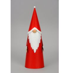 A charming Santa ornament with a cute button nose and pointed hat. A gorgeous Christmas ornament.
