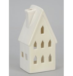 A classic house shaped t-light holder which compliments many interior themes.