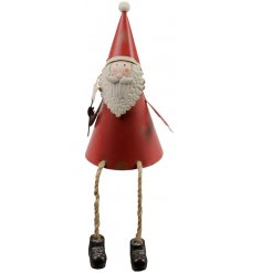 An adorable Santa ornament, perfect for displaying on shelves, dressers and the mantelpiece.