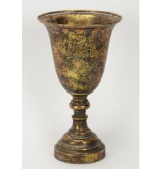 Stay on trend with this gorgeous interior accessory. A tall antique gold urn, ideal for home decor.