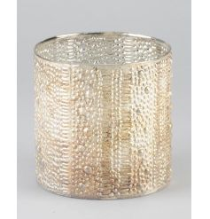 A great Gatsby and vintage inspired gold and pearl bubble t-light holder/vase ornament. A chic interior design item.