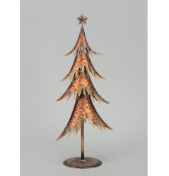 A stylish copper coloured metal Christmas tree. A unique interior design item for the home.