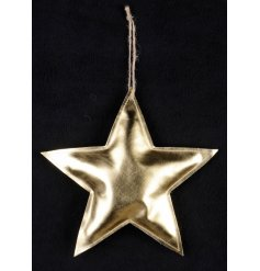 A chic fabric hanging star pouch with jute string hanger. Perfect for shop displays and home decoration.