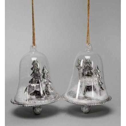 Silver Bells 40a 40 Christmas Hanging Decorations Rosefields Cool Silver Bells Decorations