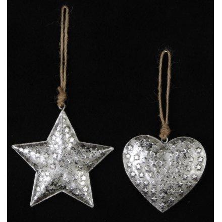 Silver Star/Heart Hanger, 2a
