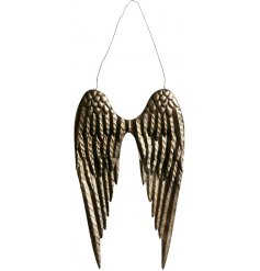 A unique pair of bronze angel wings. A chic decorative item for the home.