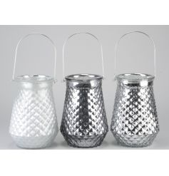 These three beautiful glass lanterns will bring a hint of modernisation into any space.