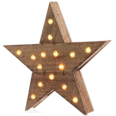 Light Up Rustic Star