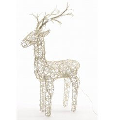 An outdoor LED light up wicker deer