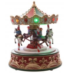 A beautiful vintage themed resin based Merry-Go-Round