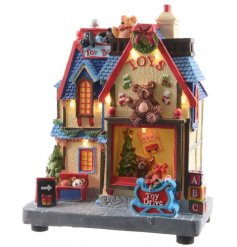 Bring in a fun traditional feel with this vintage looking Toy Shop Display