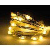 Warm white LED micro lights, longer length.