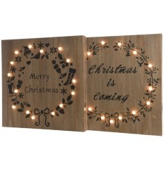 2 assorted designs of xmas signs