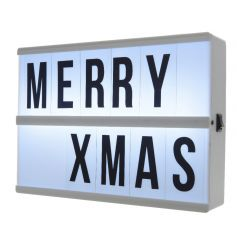 A must have!! On trend LED light box with letters included. A great home accessory and gift item.