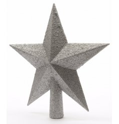 Add this glitzy topper to your tree to give off that glamorous sparkle look