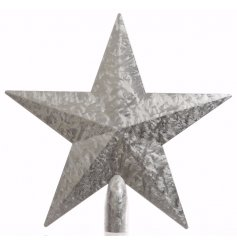 A silver Ice Star Tree topper