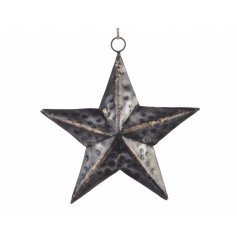 Black Star Rope Hanging Decoration, Small.