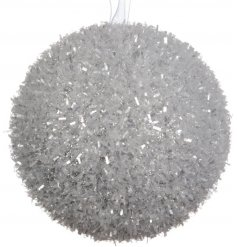 A superb value silver ice bauble. A chic decoration for your white wonderland themes.