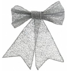 A chic gold glitter bow which is perfect for dressing trees, wreaths and garlands.