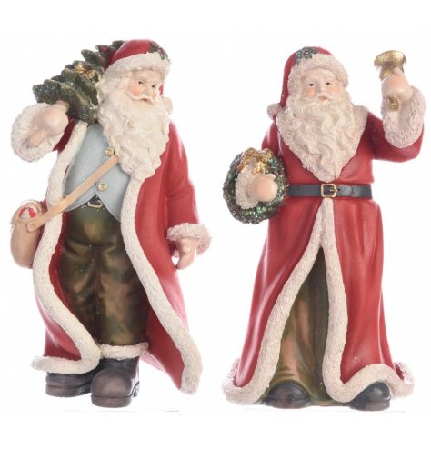 Bring the magic of Christmas to life with a traditional Santa figurine.