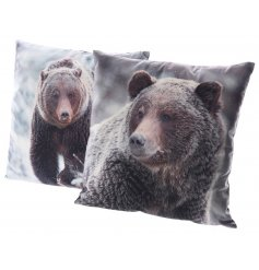 Cosy up this season with this assortment of two winter bear cushions. Super soft to touch!