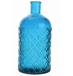 This stylish electric blue vase is the perfect way to add a bright dash of colour to your home