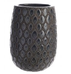 This beautiful Terracotta vase with a glazed blue/grey hue will situate lovely in any garden display or homely scene