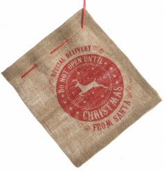 Place a special little gift inside this jute string bag and set it under the tree for your little one
