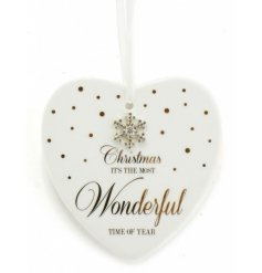 From the delicate range of 'Mad Dots' is this sweet festive themed Ceramic Hanging Heart