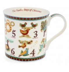 Bring some traditional fun to your festive gift giving this year with this quirky 12 days of christmas themed mug
