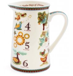 Serve your cream, custard and festive drinks in this traditional festive design jug.