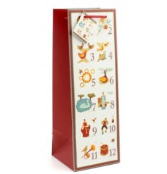 Keep your decorations traditional this year with this fun 12 Days of Christmas inspired gift bag