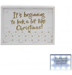 Get the party lit up with this beautiful wooden LED frame