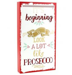 A festive and fabulous Prosecco 3D plaque. A great gift item and decorative accessory for the home.