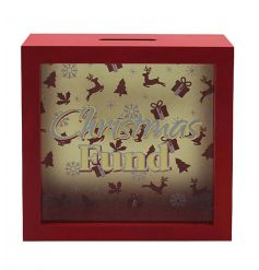 Save up for the big day and for your New Year adventures with this Christmas fund money box.