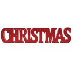 Add some festive light to your home this season with this LED CHRISTMAS plaque.