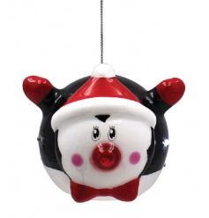 Add this fun flashing LED penguin bauble to your christmas tree for a funky flying look