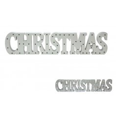 Create your own winter wonderland with this Christmas sign with LED lights.