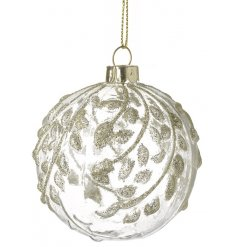 Add a hint of subtle shimmer to any tree with this glamorous bauble