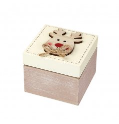 This sweet natural toned wooden ring box is a great way to give or receive gifts this festive period
