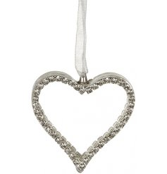 Add a dash of glitz glam to your christmas tree this season with this beautifully dainty hanging glass heart