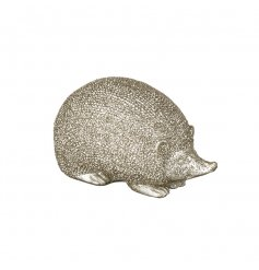 A small gold resin hedgehog ornament