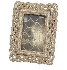 A small glitter rope resin photo frame