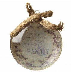 A family inspired quote inside this hanging ball will add a delicate homely feel to any tree at christmas