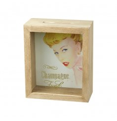A vintage style champagne fund money box.