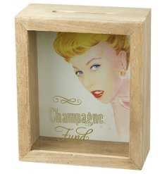 A pretty vintage design champagne fund money box. Watch your pennies build up ready for your champagne purchase!